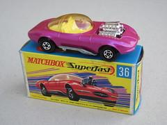 Vintage Matchbox Superfast Hot Rod  Draguar No 36 Mint & Boxed Metallic Pink (beetle2001cybergreen) Tags: vintage matchbox superfast hot rod draguar no 36 mint boxed metallic pink