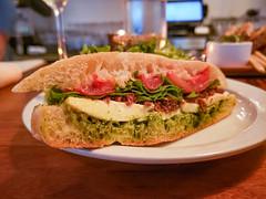 Claudio Mozzarella Sandwich at Tria (Tom Ipri) Tags: phillyfood diningout sandwiches samsunggalaxys9plus triacaferittenhouse philadelphia pennsylvania unitedstatesofamerica