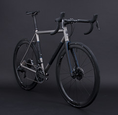 GTB Raw w/ Painted Bands, Matte Avon Black, Lava Grey, Fiji Blue, ORBIS (Baum Cycles) Tags: baum