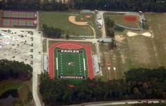 Atascocita High School Fields (zeesstof) Tags: aerialview businesstrip geo:lat=2999026359 geo:lon=9517479159 geotagged maftoiah midland texas viewfromwindow windowseat zeesstof