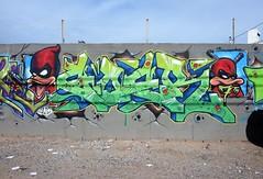 PhxGraffiti37 (ONE/MILLION) Tags: phoenix arizona streets art artist graffiti alley williestark onemillion homeless
