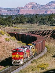 ATSF 686 East at Gonzales, NM (thechief500) Tags: atsf bnsf gallupsubdivision railroads gonzales nm usa santaferailway newmexico