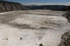 Desolate White Flats 1 (Amaury Laporte) Tags: geothermal geothermalfeatures mammoth mammothhotsprings nationalpark nature northamerica usa unitedstates wyoming yellowstone