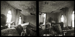 Requiem (efo) Tags: bw film diptych church abandoned swoope virginia chapel mess