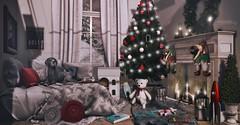 N613 The Aftermath Of Christmas Morning (Tiffany's Blended Beauty Blog) Tags: peaches applefall canteven circa fameshed hive hpmd jian kalopsia merak mossmink mudhoney santainc tannenbaum tarte