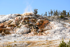 Palette Spring Fuming 1 (Amaury Laporte) Tags: geothermal geothermalfeatures mammoth mammothhotsprings nationalpark nature northamerica usa unitedstates wyoming yellowstone