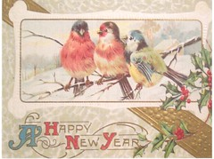 Postcrossing US-6420451 (booboo_babies) Tags: birds winter vintage victorian oldfashioned oldschool newyear happynewyear postcrossing