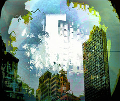 New York (soniaadammurray - On & Off) Tags: digitalart art myart visualart abstractart experimental contemporaryart song music artists franksinatra newyork shadows reflections exterior artchallenge spotlightyourbestgroup picmonkey photoshop
