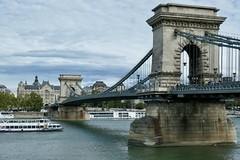 Chain Bridge (WalrusTexas) Tags: budapest chainbridge danube cruiseship perspectivecorrection