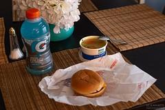 No. 122 - Sick Day No. 2 (Emmanuel Z. Karabetis) Tags: 50mm f14 canon 6d brittanys daily mcdonalds gatorade royal farms rofo cheeseburger