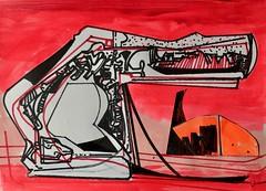 Jim Harris: Interceptor IV - Thoth, Mars. (Jim Harris: Artist.) Tags: art arte dessin drawing futurism futuristic