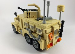 Cougar HE 6x6 (3) (Lonnie.96) Tags: lego brick moc own creation 2019 december australia united states america usa army defence force mrap mine amour protection ied improvised explosive devise cougar 6x6 wheel tan truck troops model 50 caliber m203 scale 26 1m afghanistan deployed forces window recent