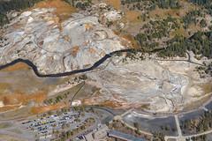 Another aerial shot of Yellowstones Geyser fields (sharpshooter2011.com) Tags: yellowstone geysers aerialphotography yellowstonenationalpark geyserfields