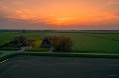 Sunset over the Westfriese Omringdijk (West Frisian Sea Wall). (Alex-de-Haas) Tags: dji dutch eenigenburg europa europe fc6310 holland krabbendam nederland nederlands netherlands noordholland p4p phantom phantom4 phantom4pro westfrisia westfriesland westfrieseomringdijk aerial aerialphotography agriculture akkerbouw beautiful beauty boerenland farmland farming landbouw landscape landscapephotography landschaft landschap landschapsfotografie lente lucht luchtfotografie mooi polder pracht quadcopter schoonheid skies sky spring sundown sunset zonsondergang sintmaarten northholland