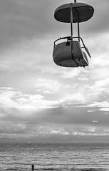 View from the Boardwalk (Robert Borden) Tags: boardwalk ocean pacific centralcoast centralcal santacruz coast cali california westcoast usa northamerica fujifilm fujifilmxt2 monochrome mono bw blancoynegro blackandwhite landscape