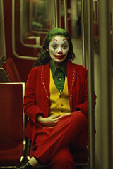 #ProjectNeverland: #Joker (TheJennire) Tags: photography fotografia foto photo canon colours colores cores film cinema joker arthurfleck toddphillips joaquinphoenix 2019 toronto canada ootd outfit makeup clown conceptualphotography art night 50mm portrait projectneverland people metro subway actress