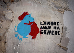 love has no gender (Sabinche) Tags: palermo graffiti via lamorenonhagenere statement italy sicily wallpainting olympus sabinche