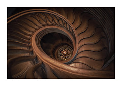 Chocolate Swirl (Rich Walker Photography) Tags: hide london spiral spiralstaircase spirals staircase architecture wood art abstract geometry buildings restaurant canon england efs1585mmisusm eos eos80d