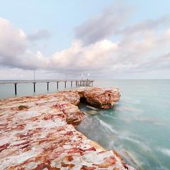 Sunrise at Nightcliff Jetty (Louise Denton) Tags: nightcliff jetty australia dawn sunrise cloud pastel darwin nt