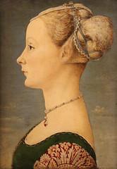 Piero del Pollaiolo (Piero Benci - Firenze, 1441-1442 – Roma, 1485-1496) - Ritratto di giovane dama (1470-1472) - Dimensioni 45,5×32,7 cm - Museo Poldi Pezzoli, Milano (raffaele pagani) Tags: ritrattodiprofilodigiovanedonna profileportraitofayoungwoman pierodelpollaiolo pierobenci museopoldipezzoli dipinto painting museo museum milano milan
