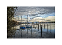 November Light at the Lake (My digital Gallery) Tags: lakeofconstance hard austria bodensee vorarlberg europe eu water wasser see lake boats boote november clouds wolken herbst autumn fall