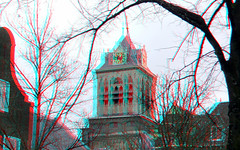 Townhall Delft 3D (wim hoppenbrouwers) Tags: townhall delft 3d anaglyph stereo redcyan glasses see depth