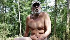 naked guy in the forest IIa (marcostetter) Tags: fashion forest landscape cool body bodyart flasher travel trees nature naked nude hiking nackt nudist naturist nakedart bear portrait hairy guy face beard chest hunk belly mature