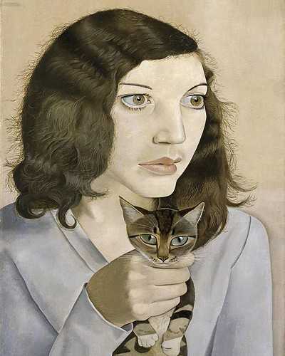 Not auto-portrait but so intense... Beyond likeness... #repost • @tate Lucian Freud was born #onthisday in 1922. He was born in Berlin and came to Britain in 1933, studying at a number of art schools during the war.  'Girl with a Kitten' is one of eight