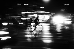 IMG_0554bw (Serendipictures) Tags: paris panning photoderue parislights parislanuit pluie parisian parisienne filé flou vitesse vélo hiver speed streetphotography street blackandwhite bicycle nightlights nuit night noiretblanc