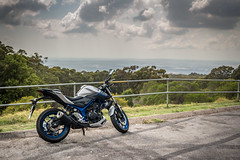 IMG_1124 (Katie McCrohon Photography) Tags: yamaha mt03 mountsugarloaf newcastle nsw australia newsouthwales motorcycle clouds mountain view lookout