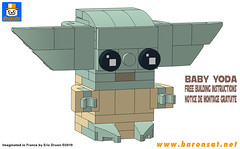 Baby-Yoda-BUILDING-INSTRUCTIONS (baronsat) Tags: brickheadz lego custom model moc the mandalorian baby yoda brick figure boba fett space wes tern tv show scifi bounty hunter starwars thechild