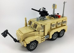 Cougar HE 6x6 (1) (Lonnie.96) Tags: lego brick moc own creation 2019 december australia united states america usa army defence force mrap mine amour protection ied improvised explosive devise cougar 6x6 wheel tan truck troops model 50 caliber m203 scale 26 1m afghanistan deployed forces window recent
