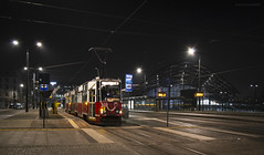 Konstal 805Na #1830+1831 (sopelek) Tags: łódź lodz city town urban architecture building railway vehicle tram transport night light