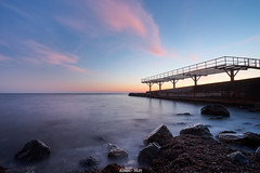 Lonely pier (zaxarou77) Tags: lonely pier sea water color dawn dusk clouds rock landascape outdoor nopeople long russia crimea blacksea black sony sonyclub a7 a7m2 a7mii a7markii carl zeiss carlzeiss 1635 sel fe fe1635f4za ilce7m2 variotessar t mm f4 za oss sel1635z