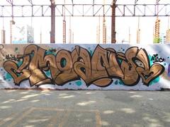 alice <3 (en-ri) Tags: moans shek nero rame rosa verde arrow parco dora torino wall muro graffiti writing bianco