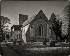 St Augustine's Church... (Linton Snapper) Tags: burroughgreen staugustine church churchyard largeformat mppmicrotechnical 5x4 film ilfordfp4plus125 cambridgeshire lintonsnapper