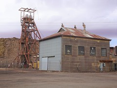 Broken Hill mines.  This shaft named the Delprat shaft was sunk by Broken Hill Proprietry in 1900. It closed in 1976 and became a tourist mine experience in 1977. (denisbin) Tags: brokenhill church presbyterian ctholic interior nave shaft mine foundationstone highschool brokenhillhighschool cemetery graves heaqdstones headstones delpratshaft
