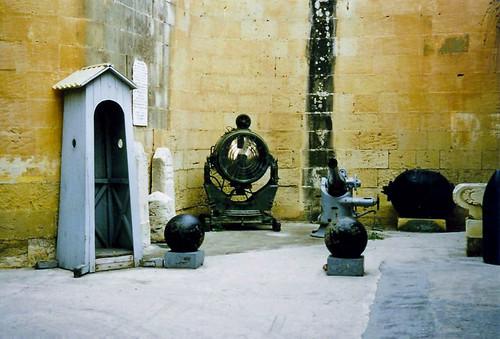 The War Museum entrance, Valletta, Malta, 27th March 1996