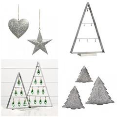 Galvanized Tree Ornament Hangers (Heath & the B.L.T. boys) Tags: galvanized metal tree tray ornaments potterybarn