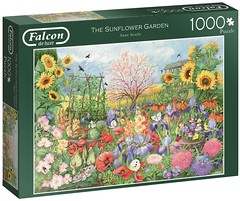 """F ? 1000 68X49CM  ART 11224  THE SUNFLOWER GARDEN Anne Searle DELUXE (Andrew Reynolds transport view) Tags: jigsaw """"jigsaw puzzle"""" picture pieces large difficult falcon hobby leisure pasttime f 1000 68x49cm art 11224 the sunflower garden anne searle deluxe"""