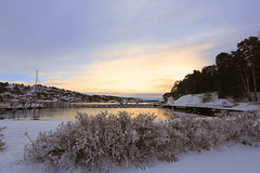 Winter-time (annemwo) Tags: winter sea water seaside sky clouds december sandefjord norway nature snow landscape