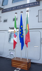 "European Union, Italian and Portuguese flags • <a style=""font-size:0.8em;"" href=""http://www.flickr.com/photos/90840517@N06/49198167177/"" target=""_blank"">View on Flickr</a>"