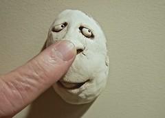 A Poke in the Nose (ricko) Tags: finger poke head face ceramic folkart 343365 2019