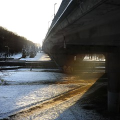 The light under a bridge (Missing Pictures) Tags: snow rays nature streetphotography street city urban life road bridge atmosphere photo winter north kaliningrad russia bright magic photography light traveling travel