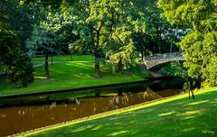 Riga-canal-&-bridge (Mel Gray) Tags: riga latvia travel canal bridge canalbridge