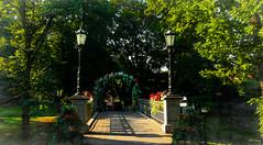Canal-bridge (Mel Gray) Tags: riga latvia travel canalbridge bridge canal gardens lampposts