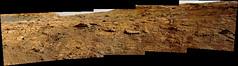 Rocks and Sand with a Little Sky, variant (sjrankin) Tags: 10december2019 edited nasa panorama mars msl curiosity galecrater sand rocks sky