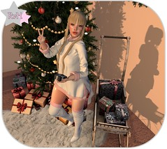 All mine *-* (Owner of [B]odylicious-SL) Tags: sl secondlife female ava lsr olive cranked presents xmas christmas tree green white pink cute kawaii sexy hot blog bloggerin ruby von hinten