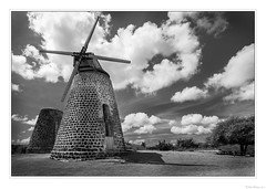 Wind Mill at Betty's Hope (John Cothron) Tags: antiguafebruary2017 antiguaandbarbuda bettyshopehistoricsugarplantation cpl canoneos5dmkiv cothronphotography distagon2128ze distagont2821ze energy georgiaphotographer johncothron pares saintpeter zeissdistagont2821ze agriculture architectural brick circularpolarizingfilter cloud clouds cold farm grass industrial island landscapephotography morninglight naturallight old outdoor outside partlycloudy paver plant plantae plantation plants protected scenic sky travel tropical windmill winter img15865170216bwweb12102019 ©johncothron2017 windmillatbettyshope