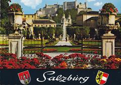 Postkarte / Österreich (micky the pixel) Tags: postkarte postcard ephemera österreich austria salzburg mirabellengarten garten garden schlossmirabell unescowelterbe